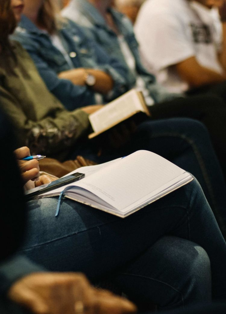 selective photography of a bible during bible study